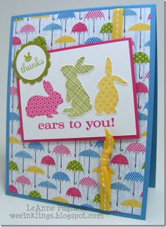 Ears To You Single Stamp;   2013 Spring Catalog - Itty Bitties stamp set, Sunshine & Sprinkles DSP
