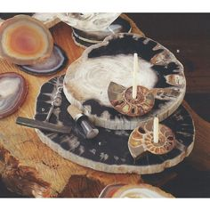 Roost Petrified Wood Cheese Tray