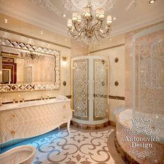 Luxury bathroom interior combines Art Deco motifs and modern classics. Dubai Interior designers have created an image that gives an aesthetic and sensual pleasure Dream Bathrooms, Dream Rooms, Beautiful Bathrooms, Luxury Homes Dream Houses, Bathroom Design Luxury, Luxury Interior, Bathroom Sinks, Floor Sink, Uppsala