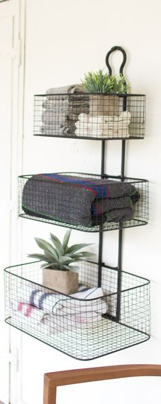 With Its Clean, Contemporary Design, This Rory 3 Tier Wall Basket Is The