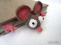 Flat Crochet Mouse Bookmark