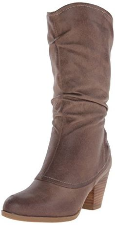 BareTraps Women's Areli Slouch Boot, Taupe, M US. The style name is Areli. The style number is Brand Color: Taupe (Main Color: Brown). Measurements: Shaft measures Circumference measures and heel. Width: B(M). Womens High Heel Boots, Cool Boots, Mid Calf Boots, Black Suede, Taupe, Womens Fashion, How To Wear, Shoes, Link