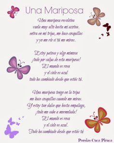 Cuca Piruca: La Mariposa poesias personalizadas