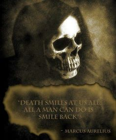 Ive smiked at death. I never feared death. My only fear I'm living right now.