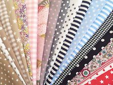 DESTOCKAGE lot de 20 coupons de tissu coton 25 X 25 cm patchwork scrapbooking