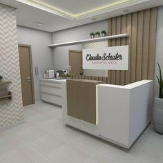 Recepção de clínica odontológica. Projeto e 3D por Bruna Schuster Arquitetura (@brunaschusterarquitetura) #clinica #dentista #odontologia #recepçao