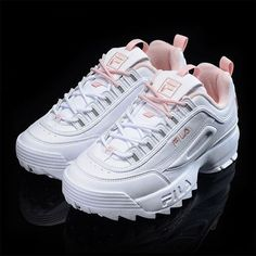 ideas sneakers womens white for 2019 85427662304951492756 ideas sneakers womens white for 2019 854276623049514927 Fila Shoes Moda Sneakers, Sneakers Mode, Air Max Sneakers, Sneakers Fashion, Fashion Shoes, Pink Sneakers, Sneakers Workout, Sneakers Style