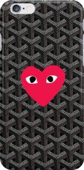 cc36cde97952c comme des garcons Black Goyard Snap Case for iPhone 6   iPhone 6s