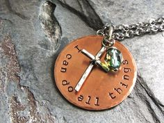 Christian Jewelry I can do all things Necklace by ATwistOfWhimsy, $48.00