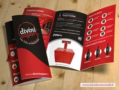 http://www.davidemancinelli.it 3 fold brochure A4 graphic design #wine