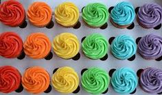 Colored cupcake