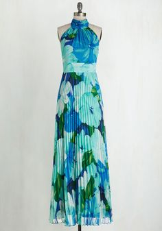 Coastal Cocktails Dress in Aqua - I don't even usually like maxi dresses anymore, but this is super cute