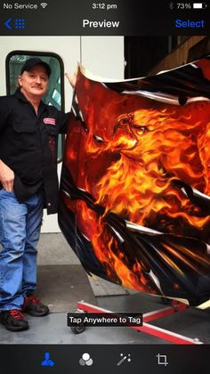 Killer Paint hood project Air Brush Painting, Car Painting, Pinstriping, Custom Paint Jobs, Custom Cars, Easy Clay Sculptures, Llamas, Airbrush Designs, Flame Art
