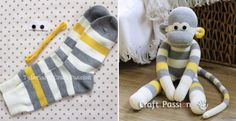 Sewing your own monkey from a sock is as easy as a pie with this great step by step tutorial!