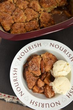Brown sugar-sweetened apples are topped with brown sugar biscuits in this wonderfully delicious Brown Sugar Apple Cobbler. - Bake or Break