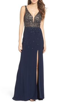 Sean Collection Embellished Sleeveless Gown available at #Nordstrom
