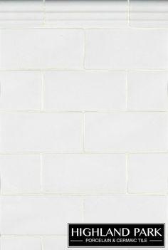 "Whisper white glazed 3""x 6"" subway tile - kitchen backsplash"
