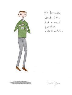 his tea had a most peculiar effect (marc johns)