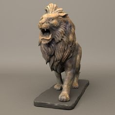 Stone Lion Sculpture Model available on Turbo Squid, the world's leading provider of digital models for visualization, films, television, and games. Wood Carving Art, Stone Carving, Elephant Sculpture, Lion Sculpture, Woodworking Art Ideas, Lion Walking, Hindu Statues, Stone Lion, Wood Animal