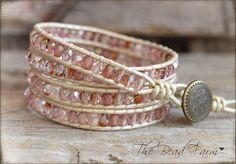 Wrap Bracelets, Beaded Wrap Bracelet, Boho Wrap Bracelet, Leather Beaded Bracelet, Leather Wrap Bracelet, Wrap Bracelet, Bead Leather Wrap