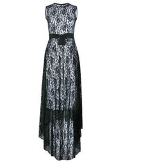 Rotita Black Lace Sleeveless Evening Prom Maxi Dress (355 ZAR) ❤ liked on Polyvore featuring dresses, gowns, black, evening gowns, lace maxi dress, lace cocktail dresses, sleeveless maxi dress and evening maxi dresses