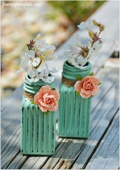 You are going to be on the look out for Salt & Pepper Shakers at your local Thrift Shop once you see these adorable Flower Vases created over at Frumpy Bumpkin! They are so quick…so easy you won't believe it!!! So keep your eyes peeled when you are shopping…you want to scoop them up!