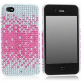 iPhone 4S 4 Hot Pink Splash Silver Bling Hard Plastic Case (1 Pc.) - iPhone 4S 4 Hot Pink Splash Silver Bling Hard Plastic Case (1 Pc.)    Camera lens, charger jack and speakers which allows access to all phone functions.  Protect and personalize you