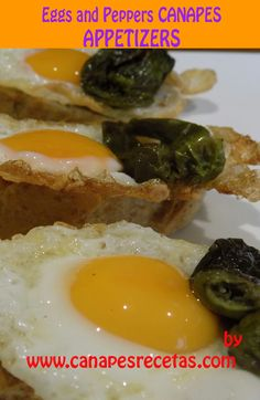 Canapes. It is delicious recipe with eggs and peppers. #appetizers #canapes #dinner #recipes