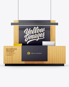 Reception Mockup in Object Mockups on Yellow Images Object Mockups Billboard Signs, Reception Signs, Phone Mockup, Shirt Mockup, Mockup Templates, Signage, Objects, Office Branding, Mobile Bar