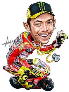 amosink.com - Valentino Rossi Caricature