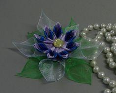 Flor com petalas com fitas e fitilhos Passo a Passo