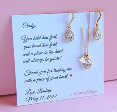 Mother Of The Groom Gift From Bride In Law Jewelry Set Future