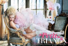"""""""Petit Trianon"""": Anna Ilnytska as Marie Antoinette in Lingerie by Pascal Chevallier for Vanity Fair Italia 