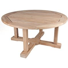 @Overstock - This furniture is crafted from high grade plantation Teak in Indonesia. This table has beautiful workmanship and triple sanded to bring its own teak oil to coat the surface of the woods.   http://www.overstock.com/Home-Garden/Solid-Teak-Round-Coffee-Table/7018363/product.html?CID=214117 $289.79