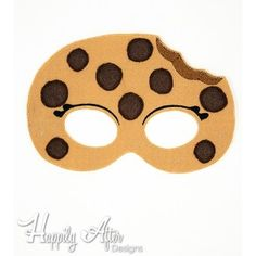 Chocolate Chip Cookie ITH Mask Embroidery Design - Perfect for Shopkin costumes themes and more!