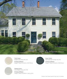 Duxbury gray hc 163 by benjamin moore house colors - Benjamin moore regal select exterior ...
