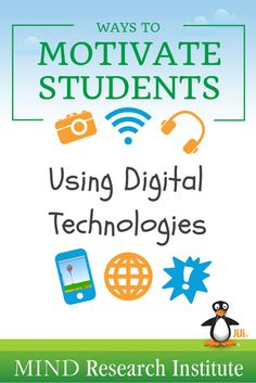 Great ways to motivate students using digital technologies in the classroom! #edtech #jijimath