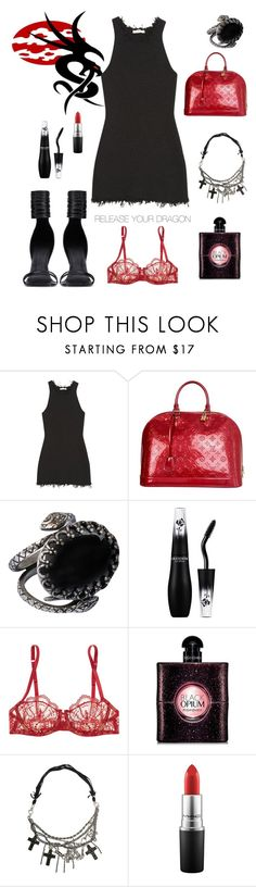 """""""Be the Animal You Are..."""" by nancybcrtn ❤ liked on Polyvore featuring CÉLINE, Rick Owens, Louis Vuitton, Ela Stone, Lancôme, I.D. SARRIERI, Yves Saint Laurent, Emanuele Bicocchi and MAC Cosmetics"""