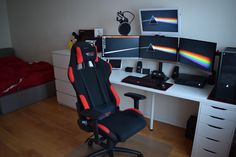 My new bedroom setup. (I'm proud!)