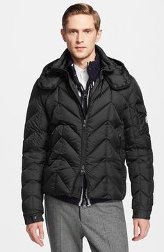 Moncler 'Berriat' Chevron Quilted Down Jacket available at #Nordstrom