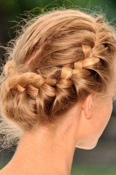 Recogido trenzado #braids #trenzas #hairstyle