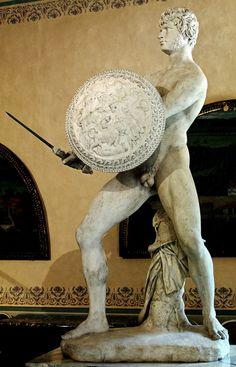 hadrian6:  Gladiator.Roman.restored from marble fragments in 1635 by Domenico Pieratti. Italian 1600-1656. Medici Villa. Petraia.http://hadrian6.tumblr.com