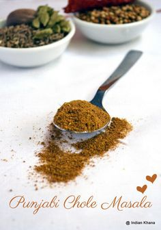 Punjabi Chole Masala Powder Recipe ~ Indian Khana