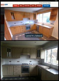 Before and after. Transformed, Annie sloan kitchen in country grey. Love it!!!