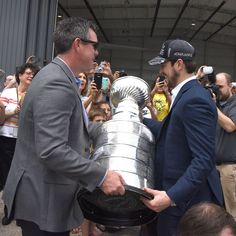 """77 Likes, 1 Comments - Pittsburgh Post-Gazette (@pittsburghpg) on Instagram: """"The Penguins and the Stanley Cup are back in Pittsburgh! And just like last summer, we need your…"""""""