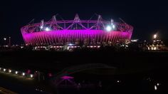 The stadium at night