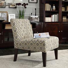 Kayla Hexagon Chain Fabric Armless Lounge Chair   Overstock.com