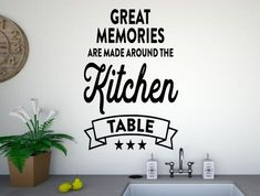 Memories around the kitchen table wall stickers Kitchen Wall Stickers, Vinyl Wall Art, Great Memories, Table, Desk, Tabletop, Desks