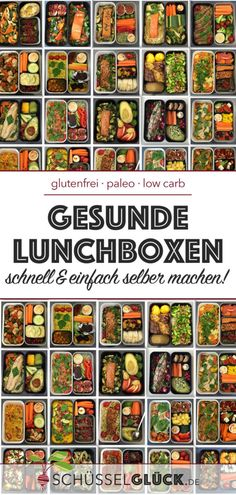 Die besten Tipps für leckere, gesunde Lunchboxen The best tips for delicious, healthy lunch boxes – or how to make your lunch break to a healthy stopover. With many different ideas to fill your lunchbox plus tips on equipment and meal prep. Lunch To Go, Lunch Meal Prep, Healthy Meal Prep, Healthy Snacks, Meal Prep Low Carb, Clean Eating Recipes, Clean Eating Snacks, Snacks Sains, Vegetarian Recipes