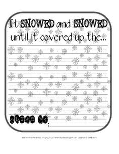 """I love activities that use Eric Carle books. This one is used with """"Dream Snow."""""""